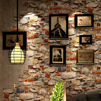Modern Vintage 3D Stone Wallpapers Roll Personalized Wall Paper for Coofeee Tea House Room Walls contact paper papier peint