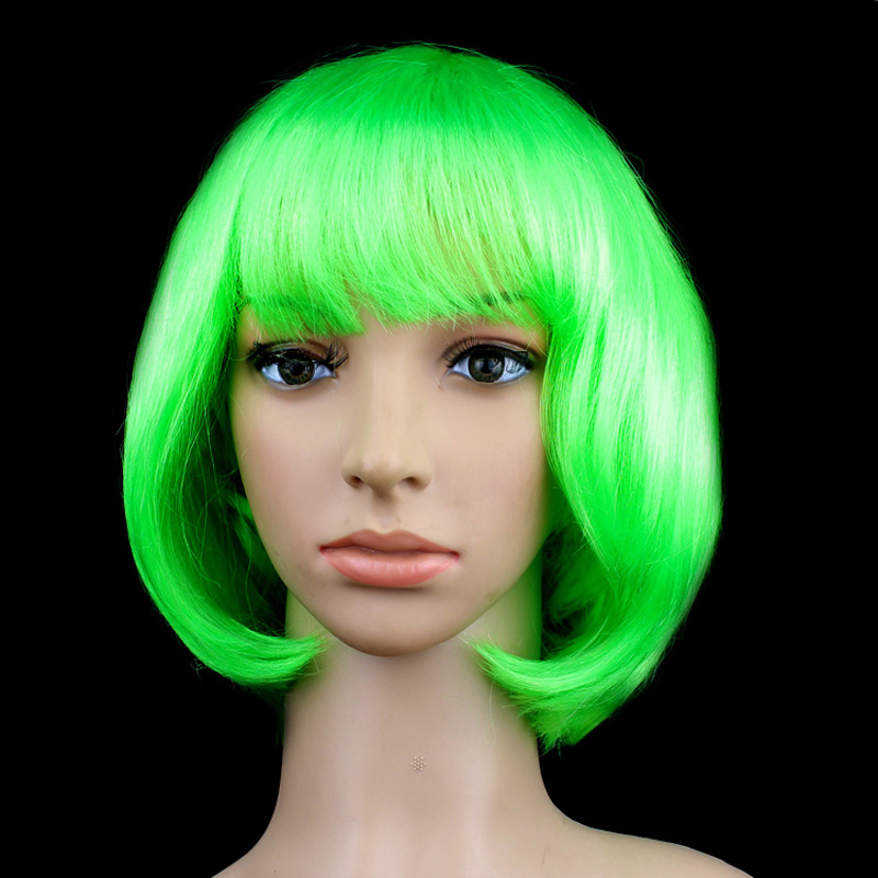 New Womens Fancy Dress Bob Short Hair Full Wigs Party Cosplay Costume Wig Colors