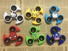 Hand Finger Fidget Spinner Skull Skeleton Tri Spinner Multi Color Gyro Fidget Toys For Adult To