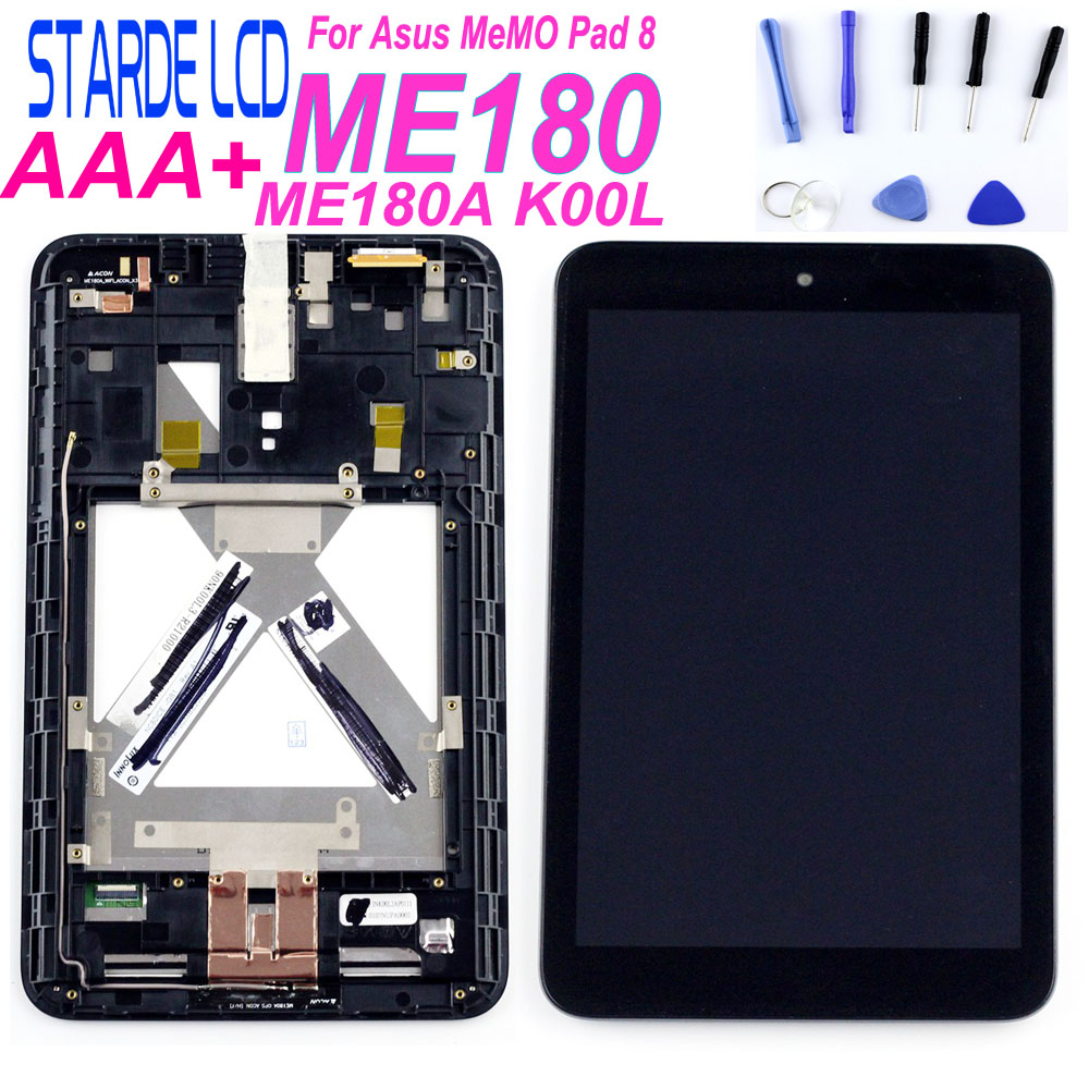 For Asus MeMO Pad 8 ME180 ME180A K00L LCD Display Touch Screen Assembly With Frame Tablet PC Replacemenet