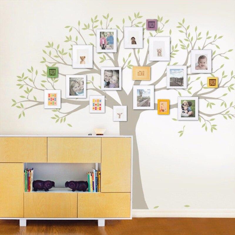 Arbre généalogique Sticker mural arbre décor à la maison salon mur Art décor chaud décoration de la maison de choix taille 203x241 cm