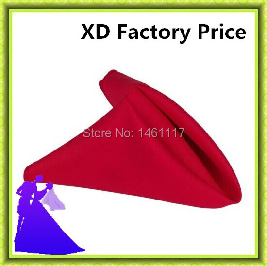 Free Shipping !! 40cm*40cm 100% Polyester plain Napkin napkin match the table cloth factory manufacture