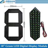 4pcs/lot 18 Green Color Outdoor 7 Seven Segment LED Digital Number Module for Gas Price LED Display module