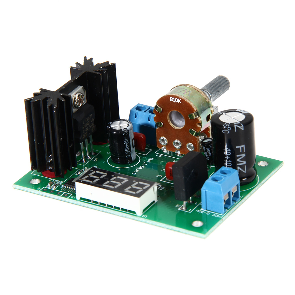 Lm317 Ac Dc 125 28v Led Display Adjustable Voltage Regulator Schematic Step Down Power Supply Module 2a Ng4s In Regulators Stabilizers From Home