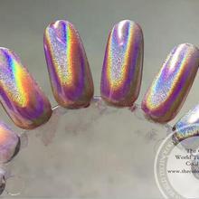 TCWB182 35um Единорог голографический серебряный цвет волшебное зеркало хром Эффект Пигментный Порошок или дизайн ногтей или другой декор
