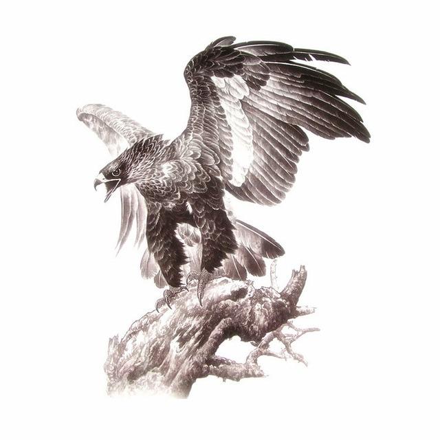 Us 421 32 X 24 Cm Grote Tattoo Ealge Met Grote Vliegende Vleugels Cool Man Rug En Borst Tattoo In 32 X 24 Cm Grote Tattoo Ealge Met Grote Vliegende