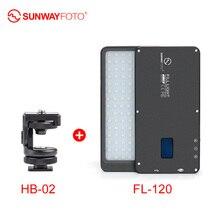 Sunwayfotot FL-120 светодиодный видео светильник фото светильник ing камера selfie светильник для DSLR youtube видео фотостудия цифровой зеркальной камеры Canon Nikon sony Fuji