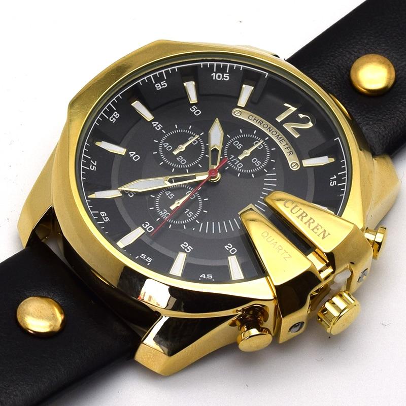 96e25173b71 CURREN Homens de Ouro Relógio de Ouro Relógio de Pulso de Quartzo Dos Homens  Relógios Top Marca de Luxo Masculino Relógio Montre Homme Relojes Hombre  Man ...