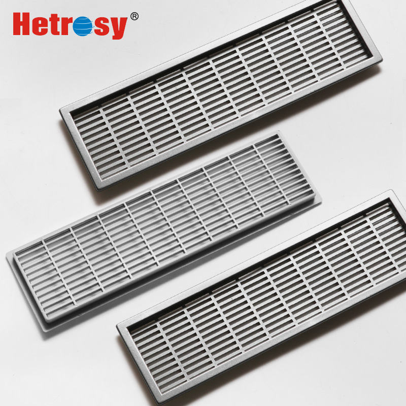 Hetrosy Hardware Plastic Rectangular Air Vent ABS Ventilator Grille Cover Ventilation For Funiture Open Hole 6x22cm