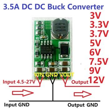 3 5A DC-DC moduł konwertera Buck Step-Down Regulator napięcia 4 5 V-27 V do 3V 3 3V 3 7V 5V 6V 7 5 9V 12V tanie i dobre opinie Pojedyncze 2 4g 25 x 15 x 6 3mm =3 5A 1-50 w DC 3V 3 3V 3 7V 5V 6V 9V 12V DC 4 5-28V Dc dc DD2712SA eletechsup
