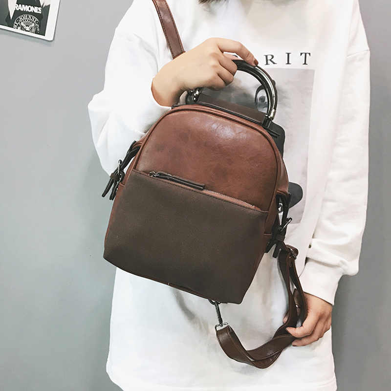 Women Backpack New Arrival 2018 Fashion Casual School Bag Medium Size Leather  Backpack Girl Daily Bag 00a5a4436294