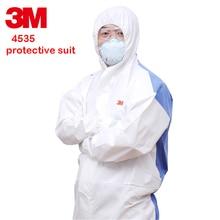 3 m 4535 כימי מגן בגדים סיאמיים עם כובע בטיחות workwear אבק הוכחה אנטי סטטי מתיז צבע חליפת הגנת