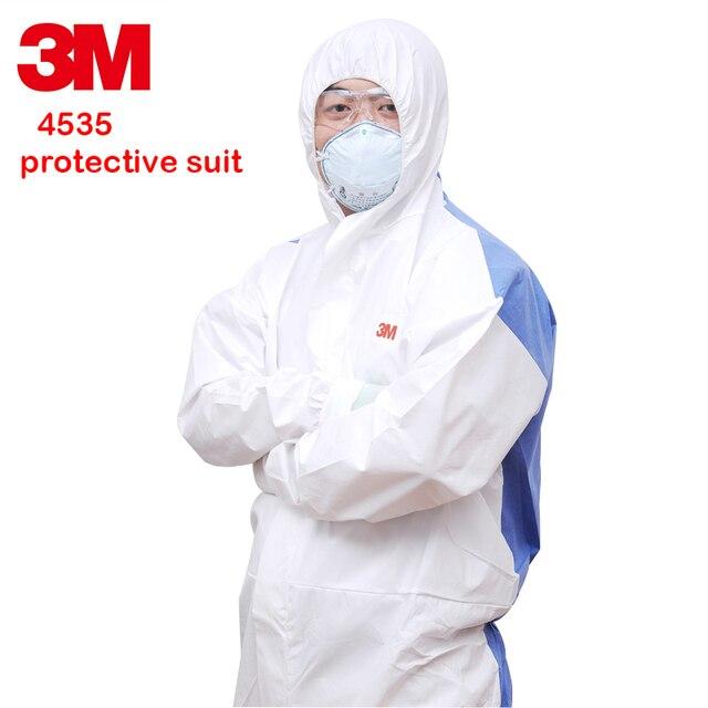 3m 4535 ملابس واقية الكيميائية سيامي مع قبعة سلامة عمال الغبار واقية مكافحة ساكنة الرش الطلاء حماية البدلة