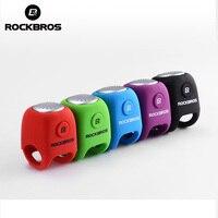 ROCKBROS Electric Cycling Bells In Bicycle Bell Rainproof 90 DB 5 Colors Optional Silica Gel Bike