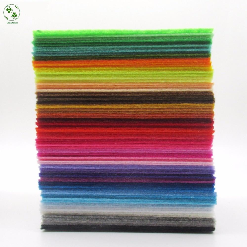 88 Colors Lot Diy Non Woven Felt Fabric Cloth Felts Feltro