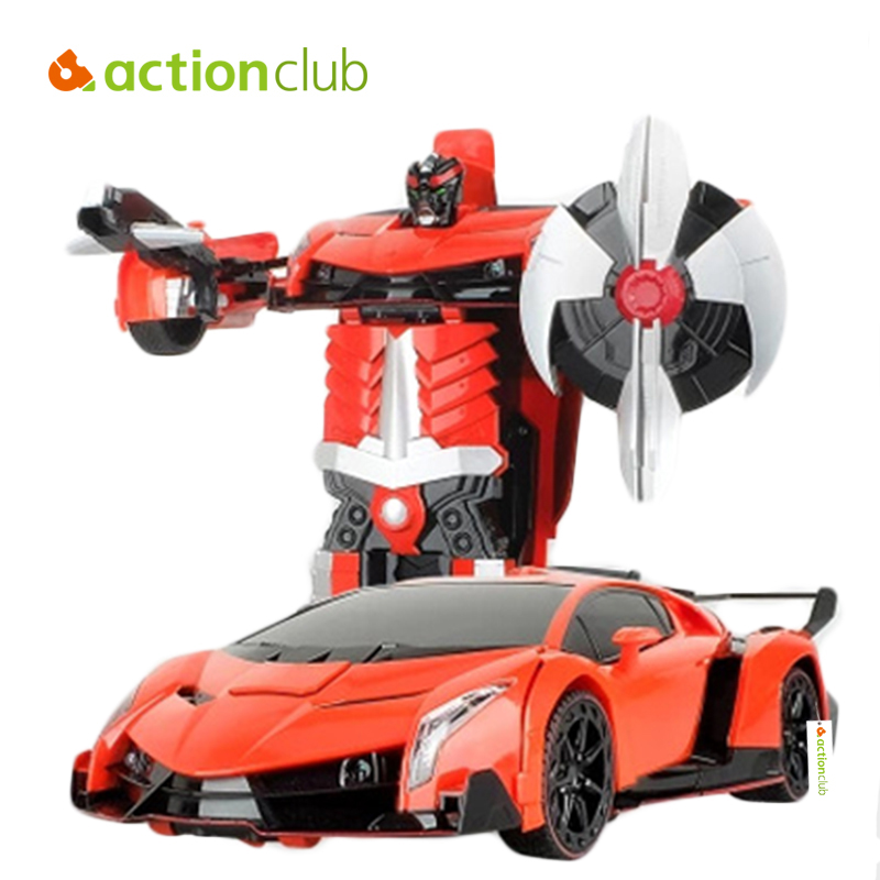 Actionclub Car Toys Figures Remote Control Robot Car Deformation Dance Remote Controller Car Styling Dynamic Sound Robot Toys car transformers deformation robot transformers bumblebee model car toys for children