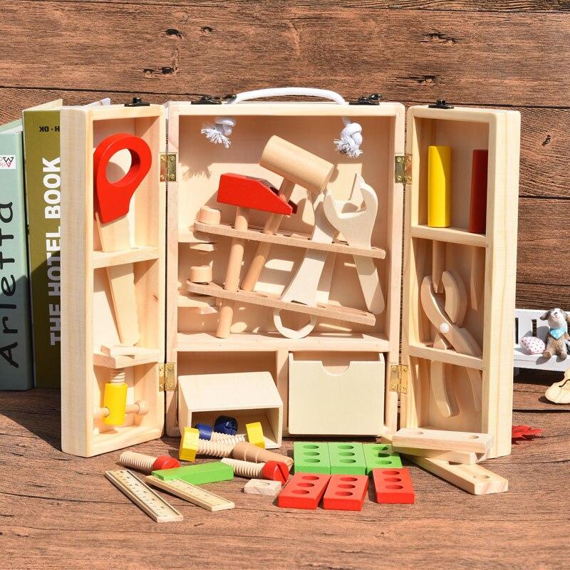 Jouet en bois bébé bois parent-enfant assembler réparation jouer maison jeu enfant maternelle éducatif main travail simulationnel boîte à outils