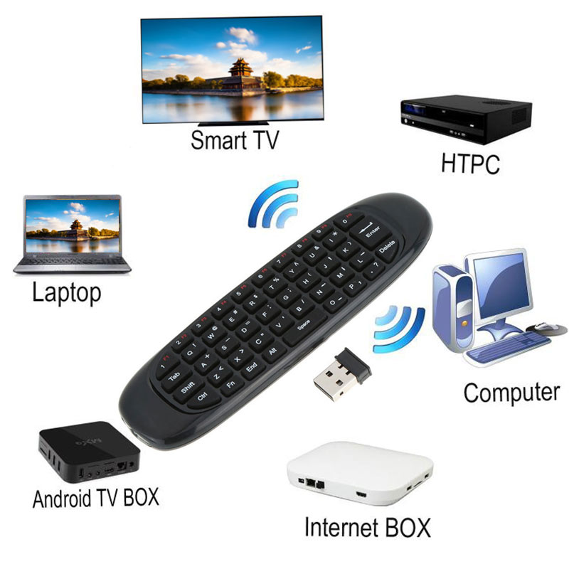 2.4G Air Mouse Rechargeable Wireless Remote Control Keyboard for Android TV Box Computer XXM8