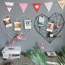 Heart-Shaped Photo Wall Rack