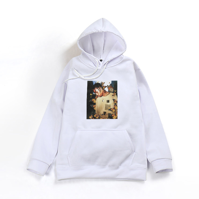 91ab207214d7 2018 Travis Scott Butterfly hoodie Effect Rap Music Album Cover men ...