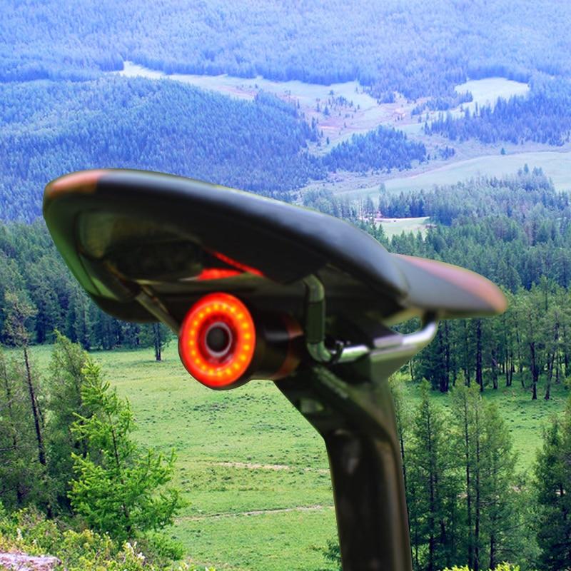 WasaFire XLITE100 bicicleta linterna USB recargable luz trasera de bicicleta de arranque automático/freno parada de Mini LED Luz de