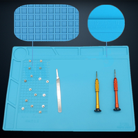 OSSIEAO 1pc Heat Resistant Pad Multifunction Soldering Repair Insulation Silicone Mat