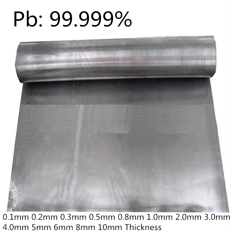 High Purity Plumbum Plate Foil 99.999% For Research And Development Laboratory Use Metal Elementary Substance Pb Sheet
