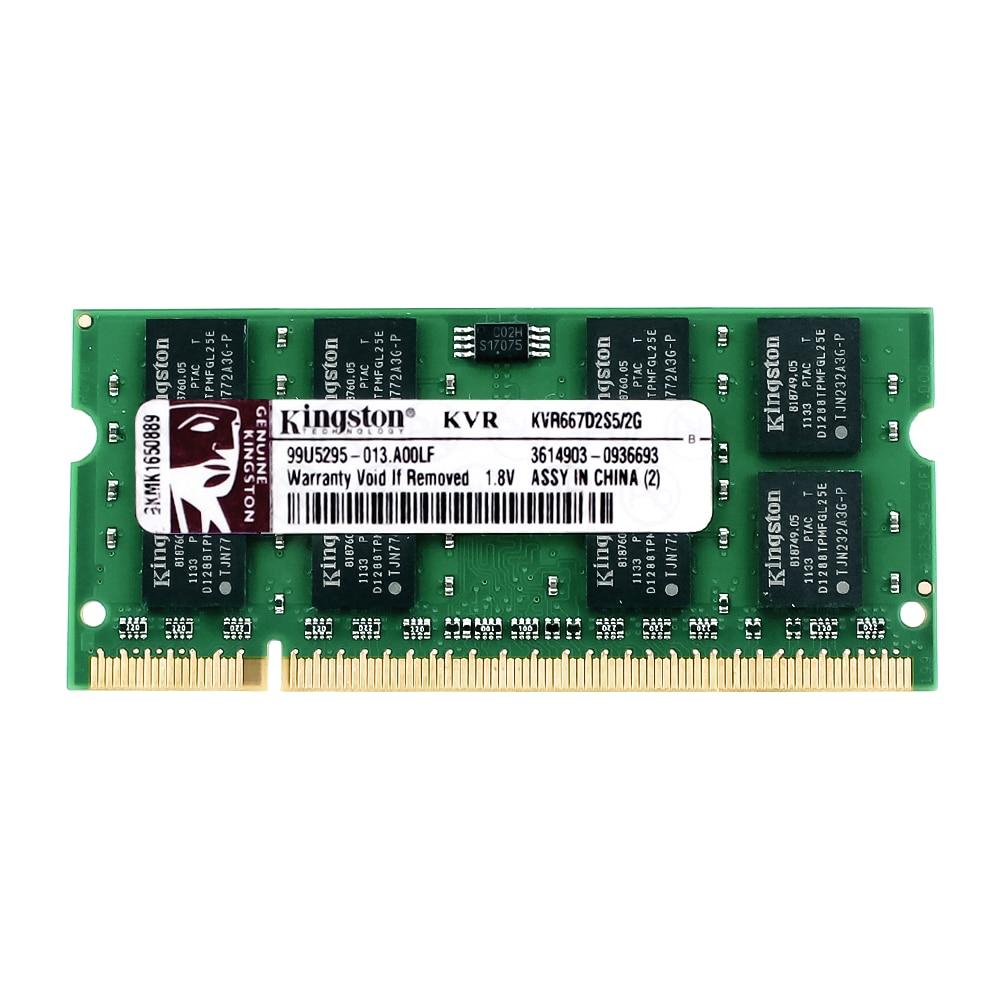все цены на Kingston Laptop Memory DDR2 800 DDR2 4GB 2GB laptop RAM ddr2 4GB=2PCS*2G PC2-6400S 1.8V онлайн