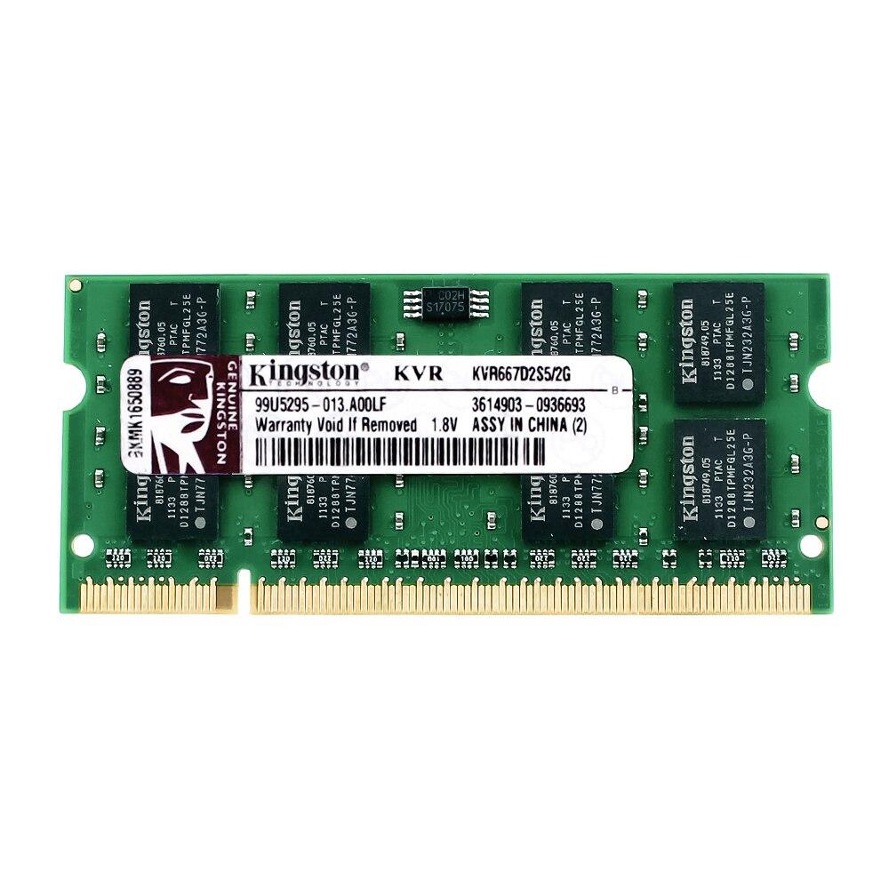 Kingston Laptop Speicher DDR2 800 DDR2 4 gb 2 gb laptop RAM ddr2 4 gb = 2 stücke * 2g PC2-6400S 1,8 v