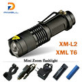 Mini cree rechargeable flashlight led torch XM L T6 XM L2 waterproof 3800 lumen 5 mode lanterna flash light lamp batteries 18650
