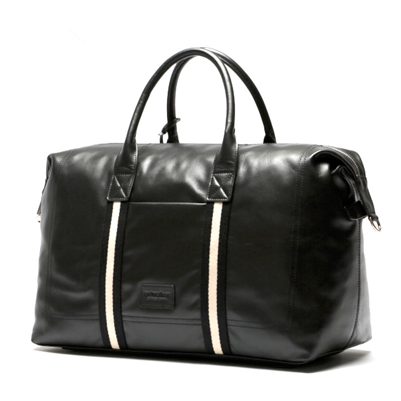 Wholesale large capacity genuine leather commercial handbag bag boarding first layer of cowhide travel bag luggage