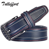 TALLEFFORT Russia Style Cow Genuine Leather Belts For Men Luxury Famous Brand Designer Strap Male Pin