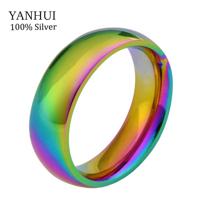 New Fashion Magic Color Rings Women Never Fade Gold Color Ring Party Jewelry Gifts Rings 361L Stainless Steel Ring JZR2020