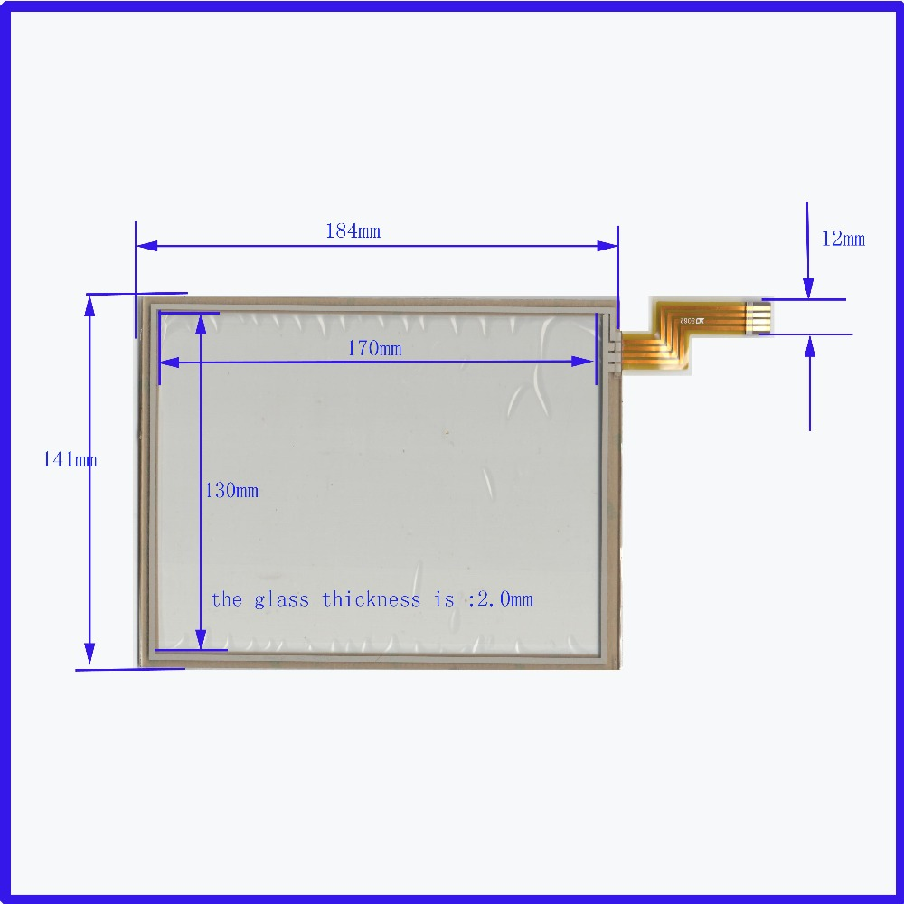 ZhiYuSun  NEW 184mm*141mm 8 inch Touch Screen Glass  4 wire resistive Touch Panel the glass is 2MM 184*141 freeshipping zhiyusun for iq701 new 8 inch touch screen panel touch glass this is compatible touchsensor 124 5 173