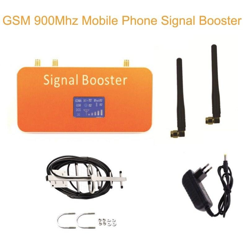 Amplificateur de Signal de téléphone portable GSM 900 + antenne Yagi avec câble 10 m affichage LCD Mini répéteur GSM 900 MHz