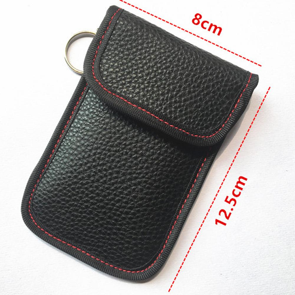 Car Key Bag Red Premium Key Signal Blocker Case Key Fob Case Signal Blocking Pouch Cage for Cell Phone Privacy Protection Anti-Tracking Faraday Bag//Cage//Pouch
