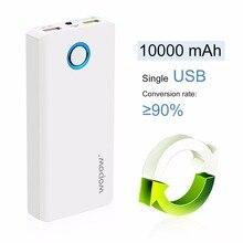 Wopow высокое Ёмкость мобильный PowerE10000plusQ Dual USB Выход быстрой зарядки внешних Батарея пакет со светодиодным фонариком
