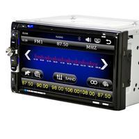 Аудио 7 дюймов 2 DIN Сенсорный экран автомобиля DVD CD плееры Bluetooth USB Ipod Радио SD FM/под jul13