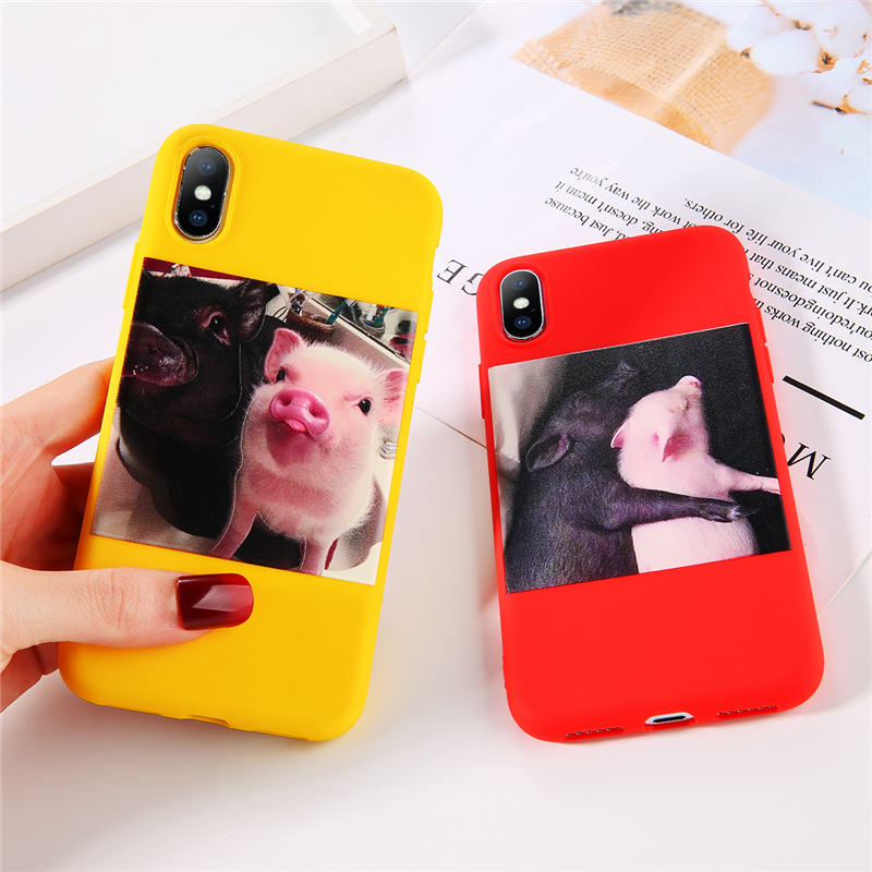 Cute Pig Printed Silicone Phone Shell For iPhone 11 Pro SE 2020 X XR XS Max 6 6s 7 8 Plus 5s SE 5