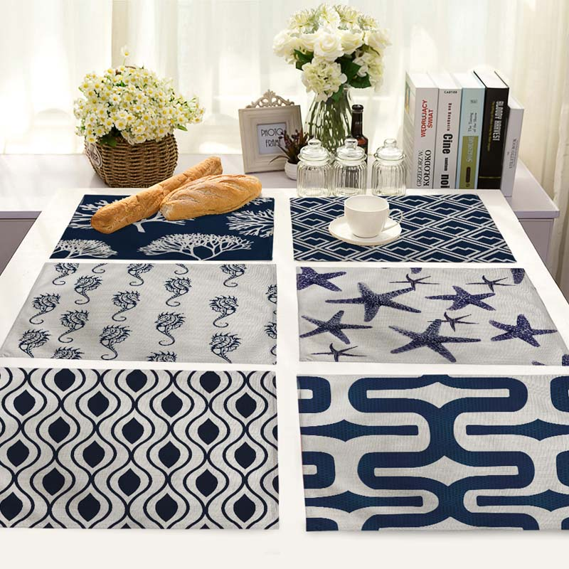 Star Round Table Dinner cotton and linen Napkin Placemats For Wedding Party Home Decor Table cloth Napkins 42*32cm MS0014