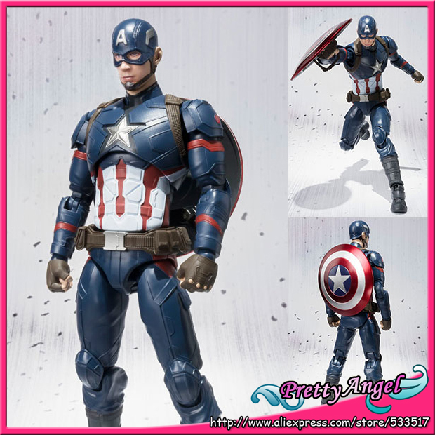 PrettyAngel - Genuine Bandai S.H.Figuarts Captain America: Civil War Captain America Action Figure victorian america and the civil war