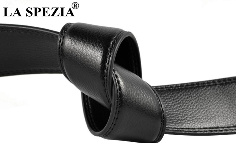 Apparel Accessories La Spezia Cowhide Leather Belt For Men Automatic Buckle Belt Male Black Formal Business Solid Vintage High Quality Brand Belts Fast Color
