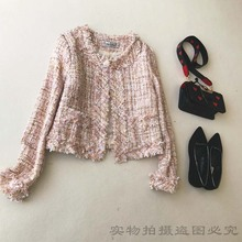 лучшая цена coat Tweed Jacket  high quality Custom Autumn / Winter Women jacket Coat long-sleeved Ladies Woolen Jackets 2019 autumn coat