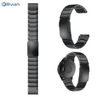 OLLIVAN Stainless Steel Bracelet Smart Watch Replacement Strap For Garmin Fenix 5 For Xiaomi Huami Amazfit