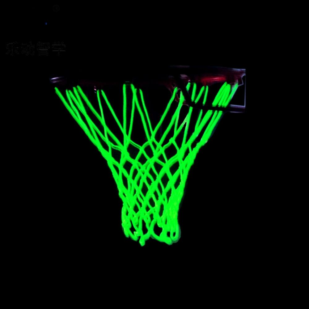 Luminous Basketball Net Outdoor Shooting Trainning Glowing Light Basketball Nets Night Light Up Nylon Basketball Net