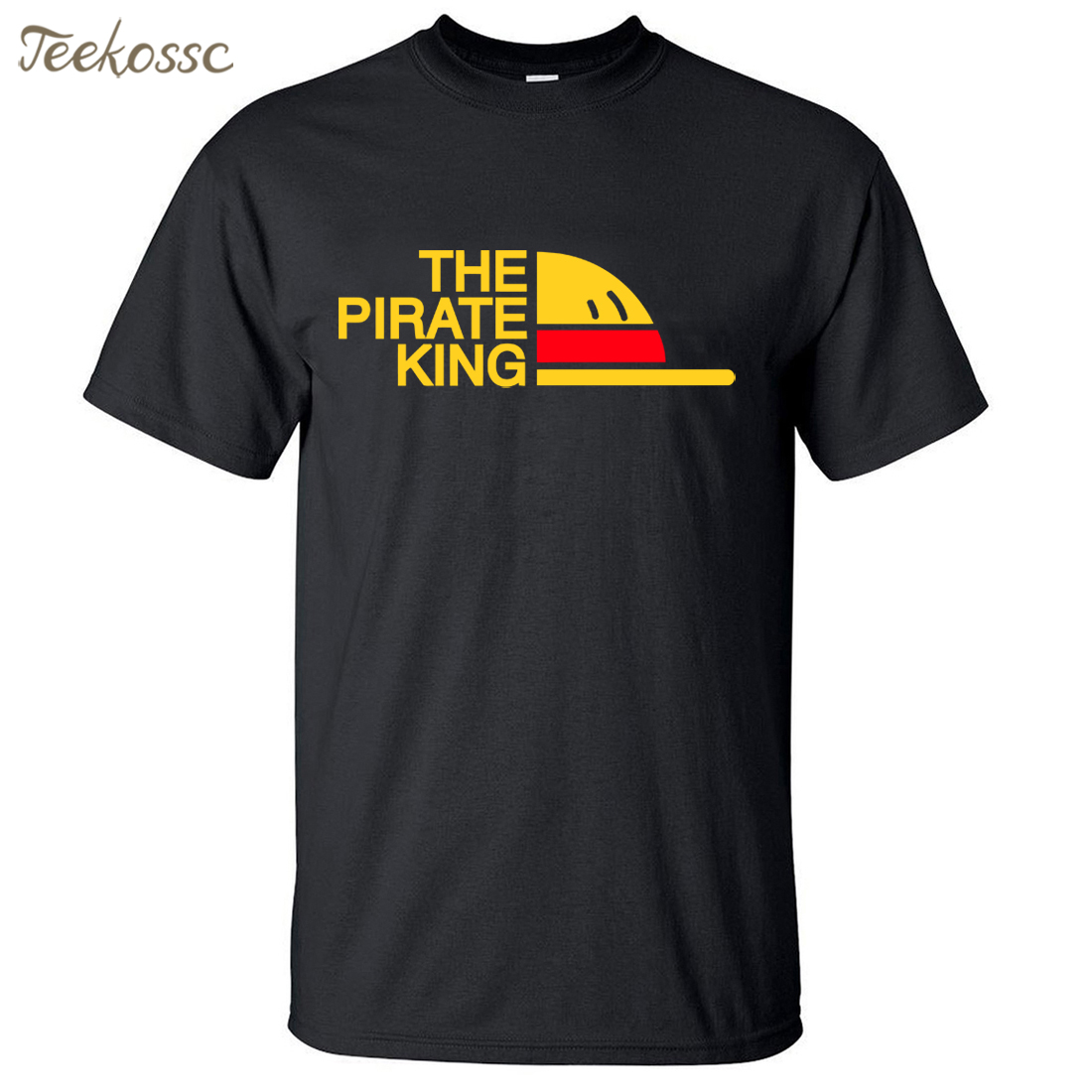 New Brand One Piece   T  -  Shirt   Men The Pirate King   T     Shirt   Mens Luffy Tshirt Summer Tees Japanese Anime Cotton Short Sleeve Men's