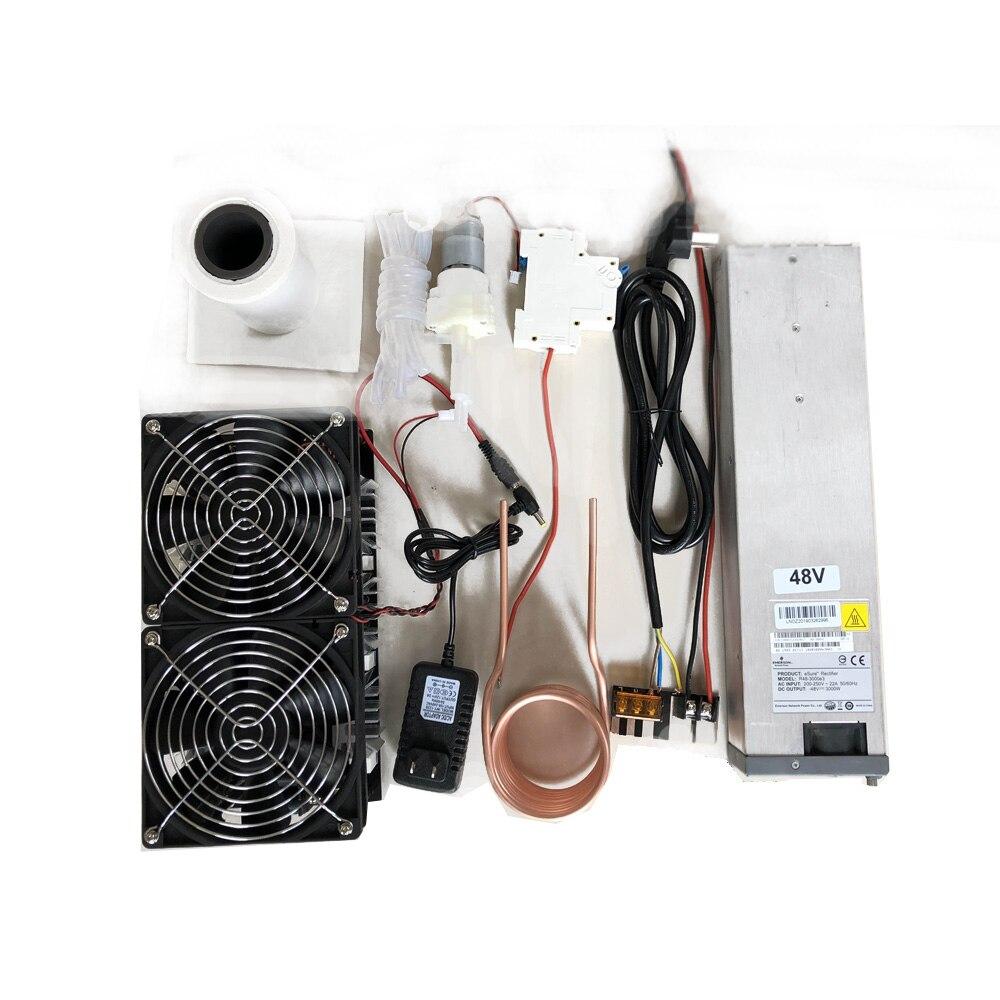 Image 3 - 2500 ワット 48 V 50A ZVS 誘導加熱モジュール高周波加熱機溶融金属コイル電源フルキット -    グループ上の 電子部品