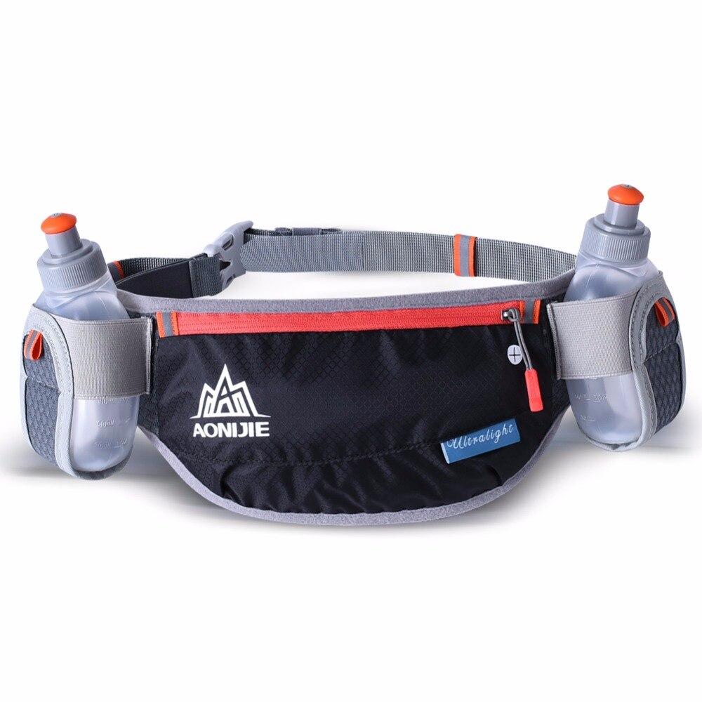 AONIJIE Men Women Running Waist Pack Lightweight Outdoor Sports Racing Hiking Gym Fitness Hydration Belt Water Bottle Hip Bag