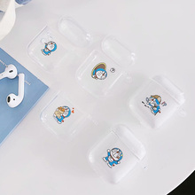 Cartoon Soft TPU Doraemon Earphone Clear Case for Apple AirPods 1 2 Wireless Wired Charging Box Transparent Cute Totoro Bag Case