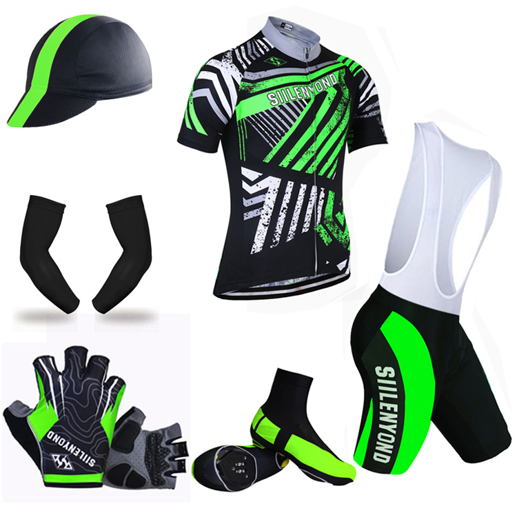 ФОТО Siilenyond Pro Summer Big Cycling Set ! 2017 Maillot Ropa Ciclismo Racing Bicycle Clothing Mans MTB Bike Jersey Clothes